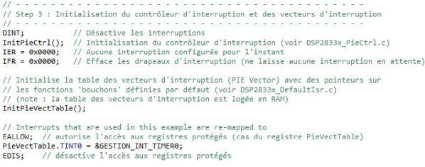 CCS init interrupt